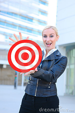 Business Woman with Target