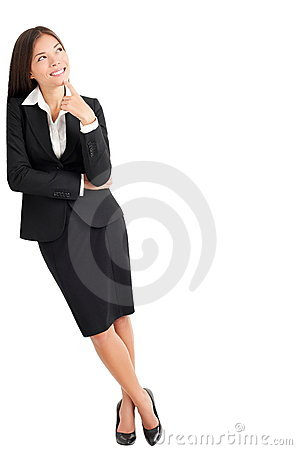 Free Business Woman Thinking Leaning Royalty Free Stock Photos - 18881148