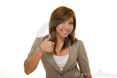 Business Woman Thumbs Up 2