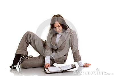 Business woman with timer