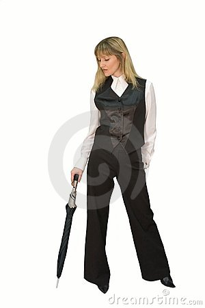 Business Woman With Umbrella Royalty Free Stock Photos - Image: 1887328