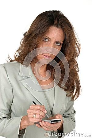 Business Woman Using PDA 2