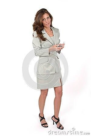 Business Woman Using PDA 6