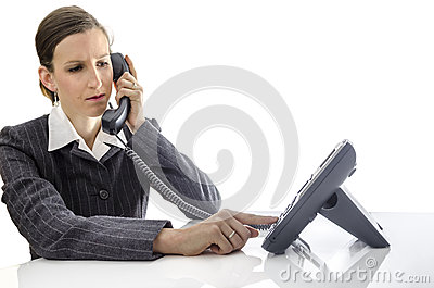 Business woman using a phone