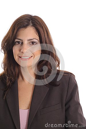 Business woman on white vertical