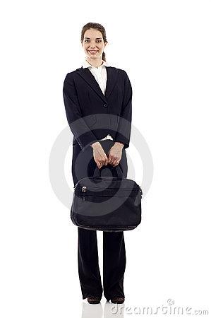 Free Business Woman With Briefcase Stock Image - 21433421