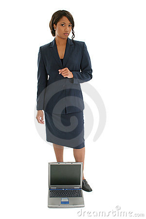 Free Business Woman With Laptop Stock Image - 408821