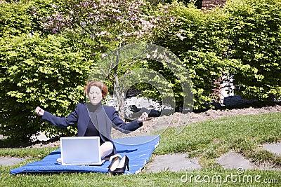 Business Woman Yoga