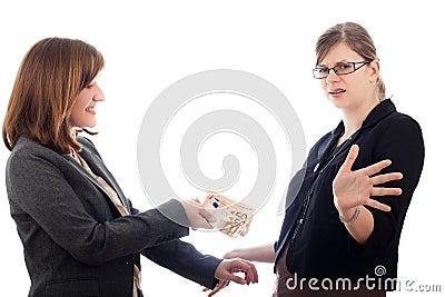 Business women bribery