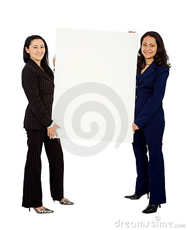 Business women doing