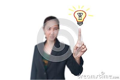 Business women get idea