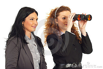 Business women looking to the  future