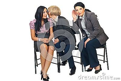 Business women tells secrets