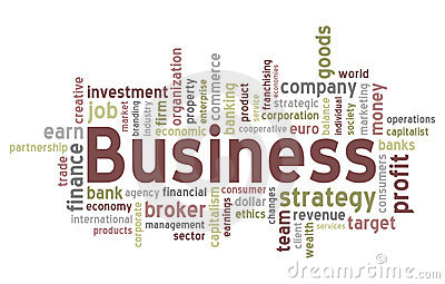 Business Word Cloud Stock Image - Image: 19575461