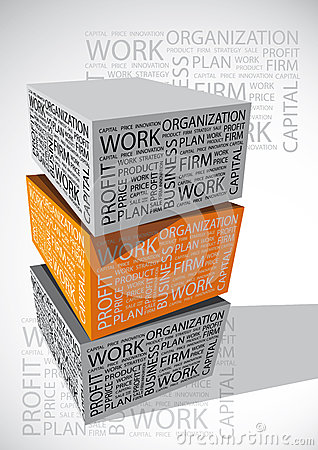 Business word cube