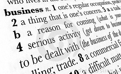 Business word dictionary term
