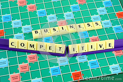Business wording in queue scrabble