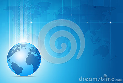 Business World Blue Background
