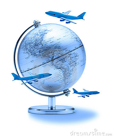Free Business World Travel Globe Airplanes Royalty Free Stock Photography - 12030707