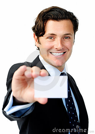 Businesscard man isolated