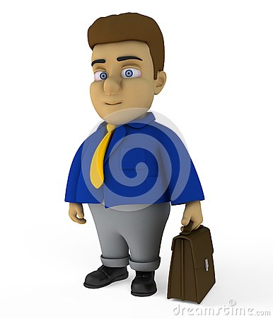 The businessman 3d character