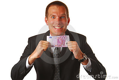 Businessman with 500 EUROS