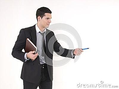 Businessman with agenda