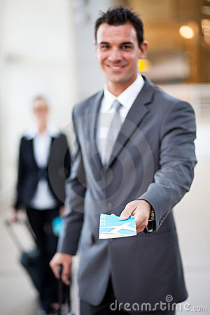 Businessman air ticket