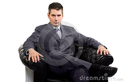 Businessman in a armchair