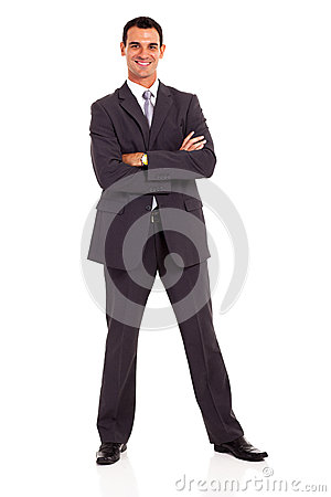 Businessman arms folded