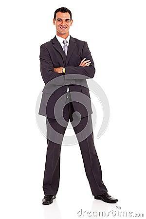 Businessman arms folded