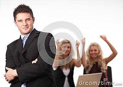 Businessman Arms Folded Team