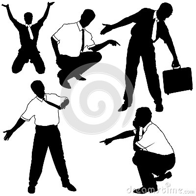 Businessman as model Silhouettes