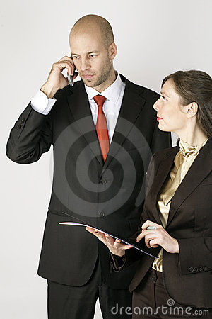 Businessman with Assistent