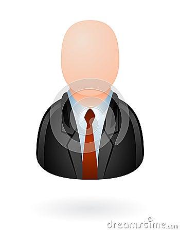 Businessman avatar glossy
