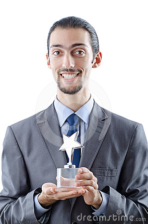 Businessman with award