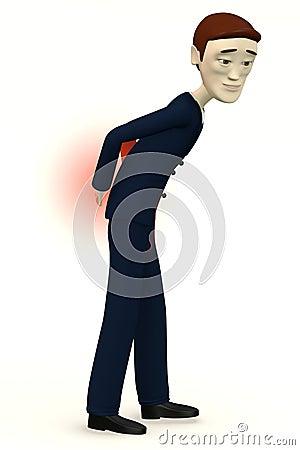 Businessman - back pain