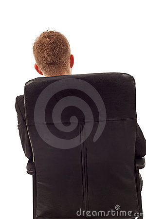 Businessman back seated