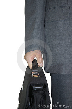 Businessman with bag