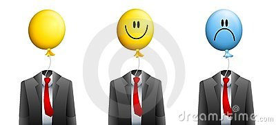 Businessman Balloon Face