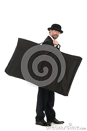 Businessman with a big bag
