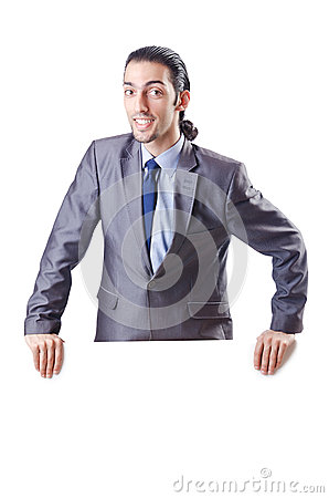 Businessman with blank