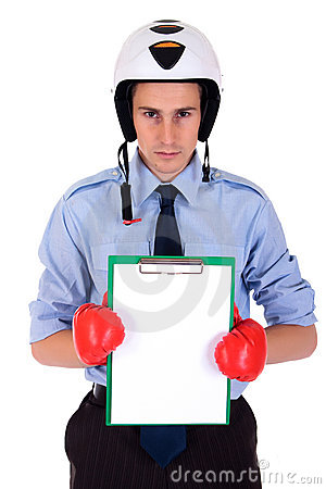 Businessman boxing gloves