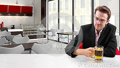 Businessman on Break