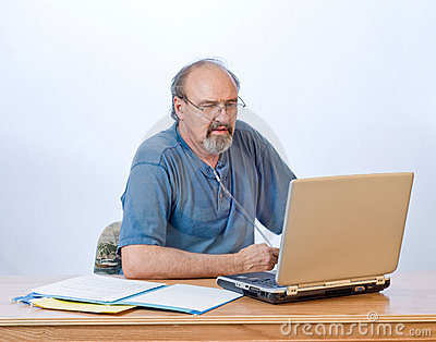 Businessman With Breathing Disability Royalty Free Stock Photo - Image: 6805855