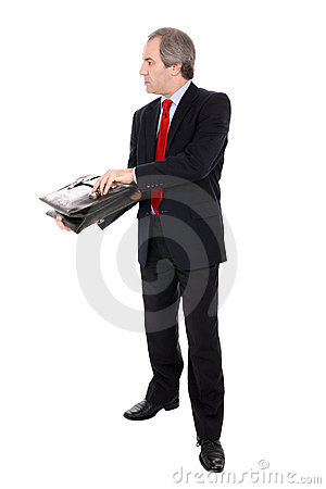Businessman with a briefcase