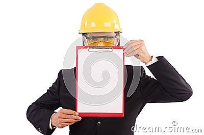Businessman -builder Stock Photo