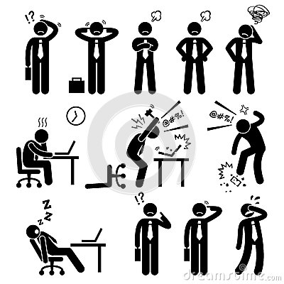Free Businessman Business Man Stress Pressure Workplace Cliparts Stock Photos - 51748593