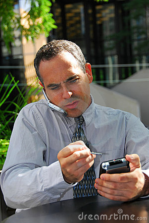 Businessman busy