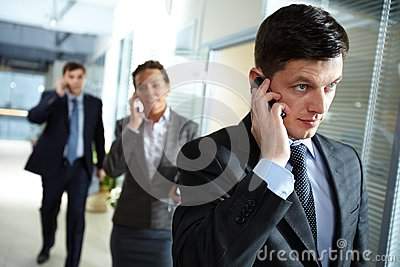Businessman calling